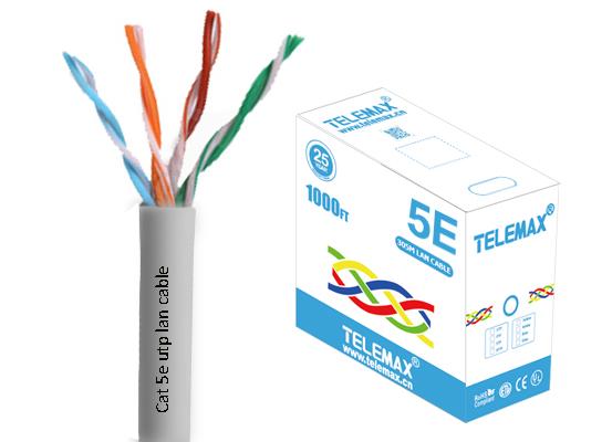 Cat5e lan cable UTP 24AWG BC 0.511mm PVC Jacket Fluke test