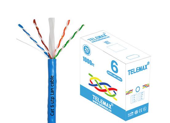 Cat 6 lan cable UTP 23AWG BC 0.57mm LSZH Jacket Fluke test