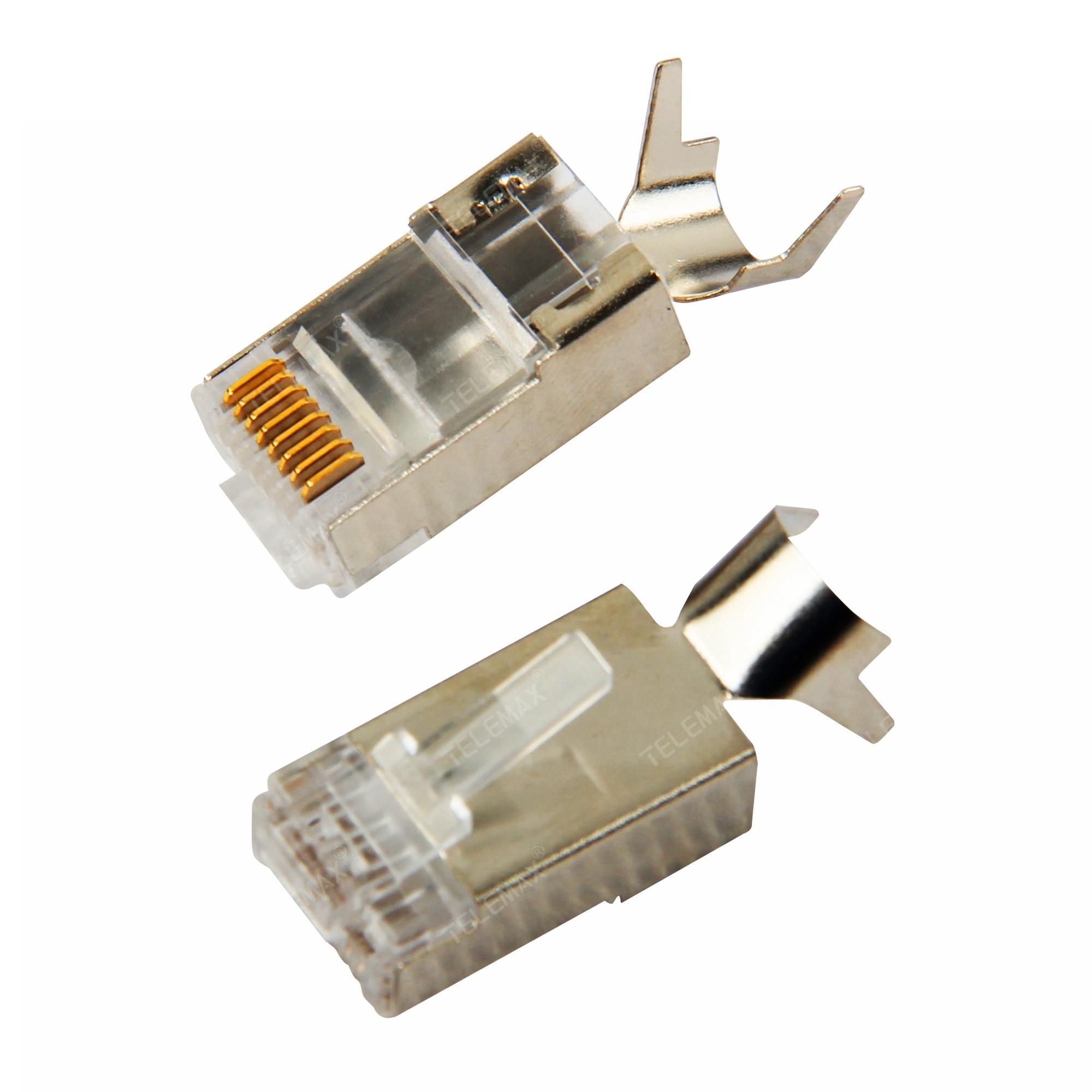 CAT7FTP RJ45 Plug 8P8C, Golden plating 50u'', Copper Pin