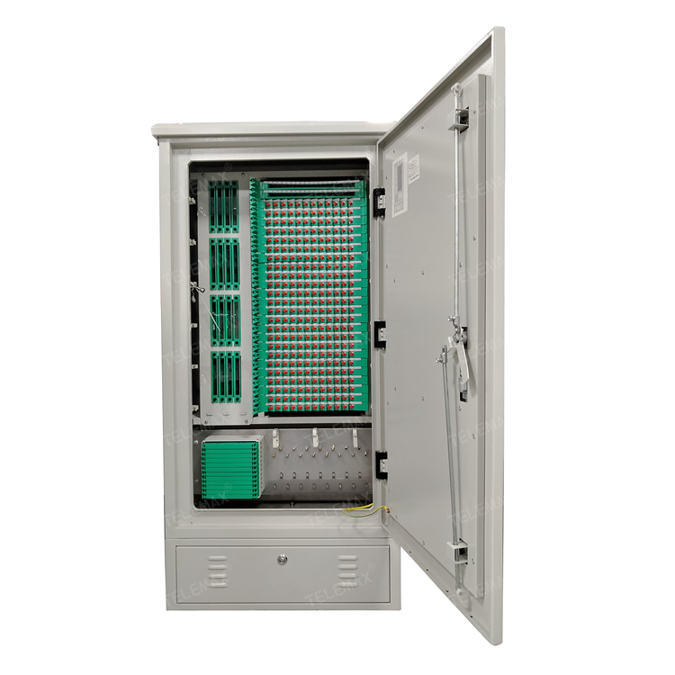 Optical Fiber Cross Cabinet  Outdoor 288 Core 1450*680*350mm, SPCC / Stainless Steel