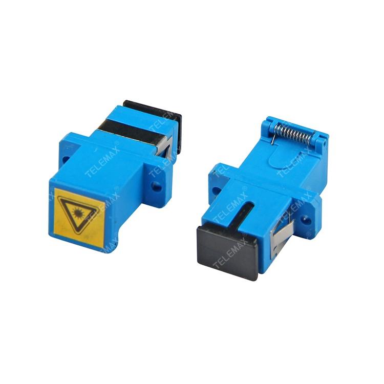 Optical Fiber Adapter SC/PC SM Simplex with dust shutter