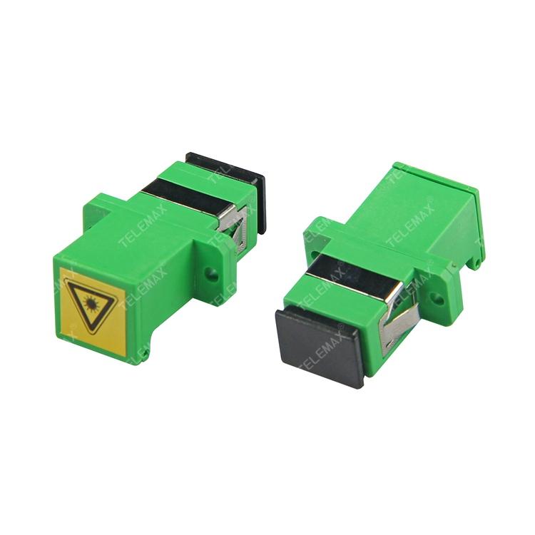 Optical Fiber Adapter SC/APC SM Simplex with dust shutter