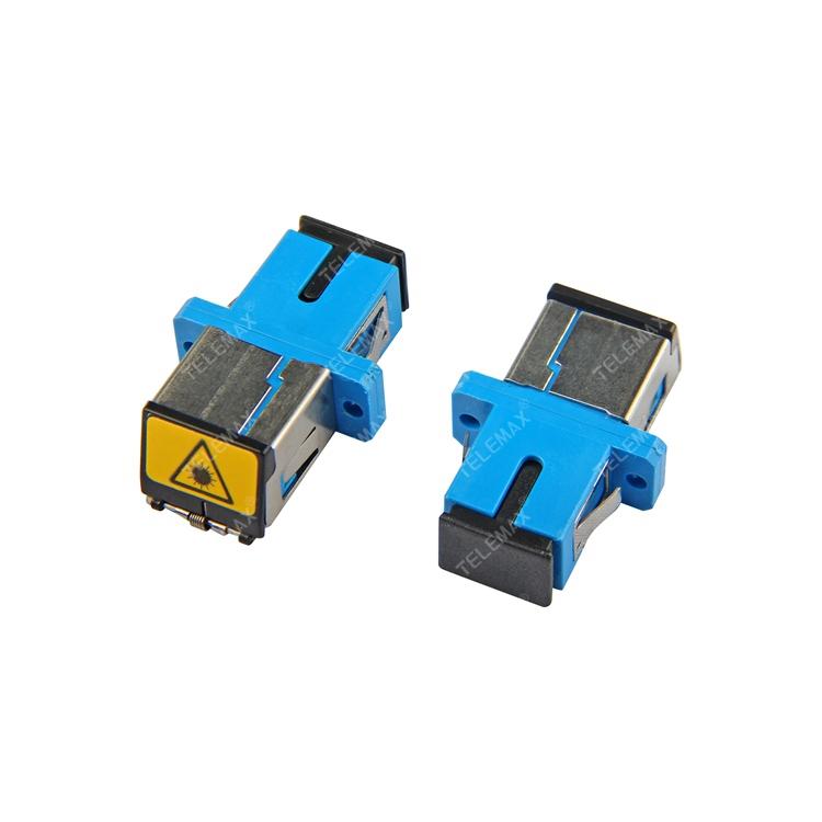 Optical Fiber Adapter SC/PC SM Simplex with Metal dust shutter