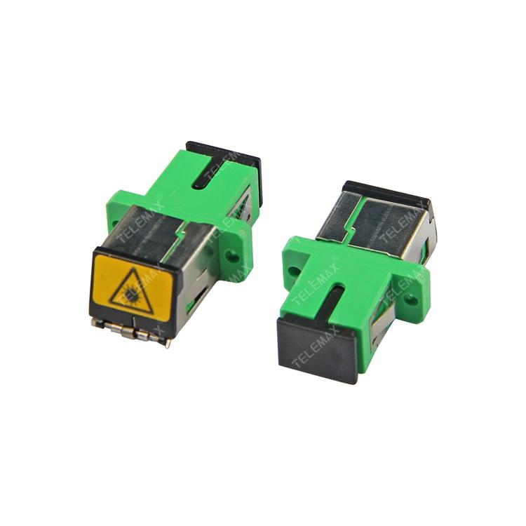 Optical Fiber Adapter SC/APC SM Simplex with Metal dust shutter